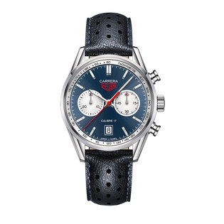 TAG Heuer Gents stainless steel Carrera automatic blue dial watch
