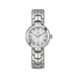TAG Heuer Ladies stainless steel link quartz date watch