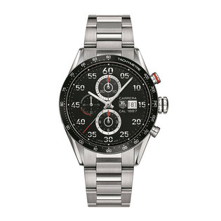 TAG Heuer Gents stainless steel Carrera automatic chronograph watch