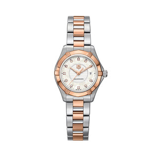 TAG Heuer Ladies 2 tone Aqua Racer quartz watch