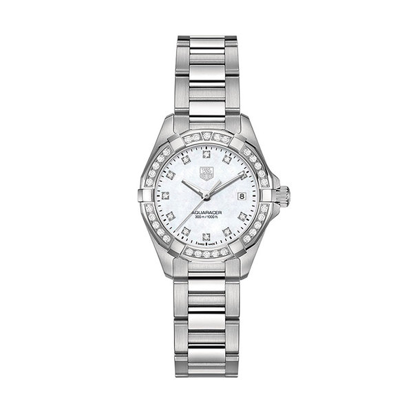 TAG Heuer Ladies Aqua Racer quartz date watch