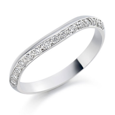 Shaped platinum band