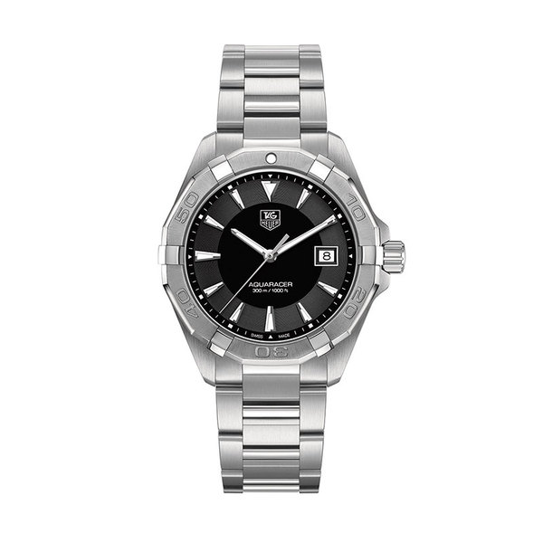 TAG Heuer Genst stainless steel Aqua Racer automatic date watch