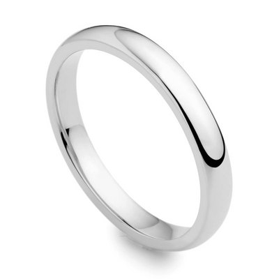 Platinum 2.5mm medium court wedding ring