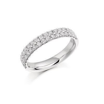 Round Brilliant Micro Pave Set Ring