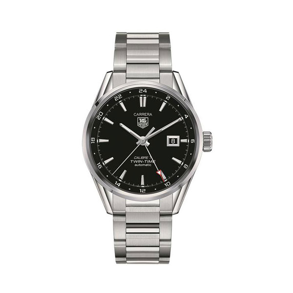 TAG Heuer Gents Stainless steel Carrera automatic twin time watch