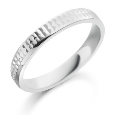Gents palladium ring
