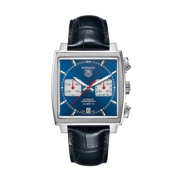 TAG Heuer Gents stainess steel Monaco blue dial watch