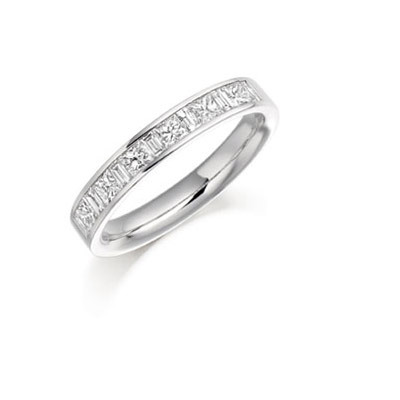 Princess & Baguette Channel Set Ring